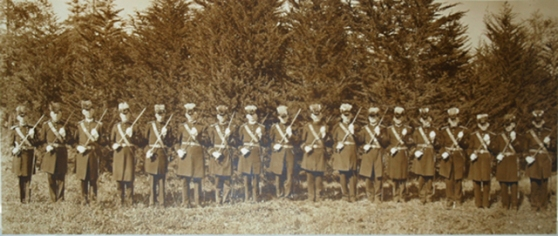 Pano group portrait_IOOF Patriarchs Militant Grand Encampent formation-historical