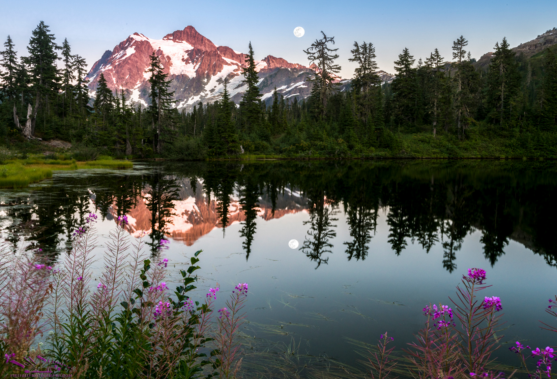 View of Mt. Shuksan from Highland Lake